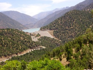 le lac vue route d'Amizmiz