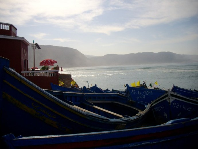 le port d'Imsouane entre Essaouira et Agadir